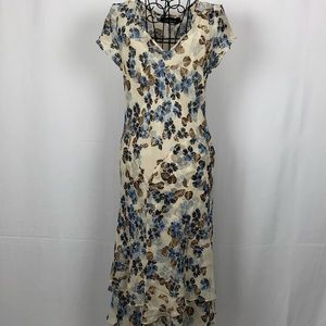 Jones New York silk floral midi dress 8P